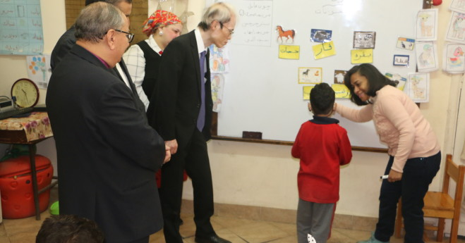 The Japanese Ambassador visits the Deaf Unit