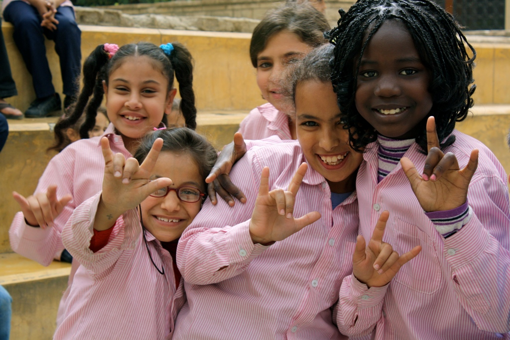 Children from the Deaf Unit in Cairo